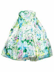 Richard Quinn floral strapless dress - White