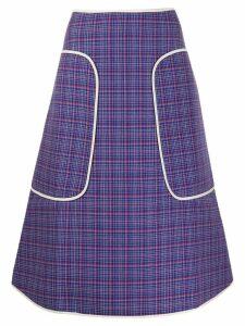 Sofie D'hoore check-print midi skirt - Blue