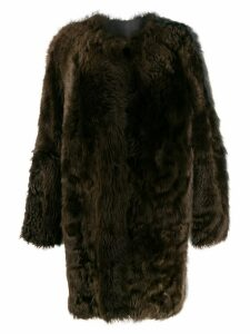 Sofie D'hoore two-tone faux-fur coat - Brown