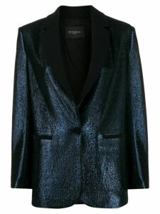 Antonelli metallic-effect blazer - Blue