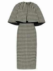 Gucci houndstooth cape dress - Black