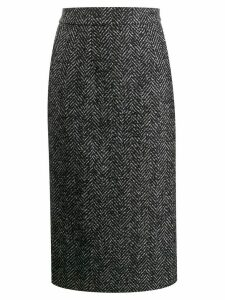 Dolce & Gabbana chevron pencil skirt - Grey