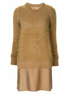 Nº21 sweater mini dress - Brown