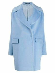 Tagliatore oversized short coat - Blue