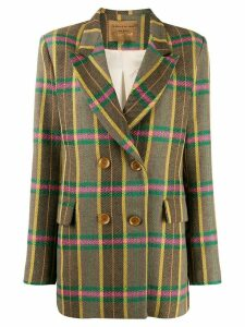 ALESSIA SANTI plaid print blazer - Green