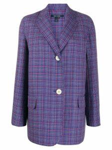 Sofie D'hoore check-print oversized blazer - Blue