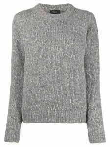 Theory speckled knit jumper - Grey