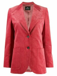 PS Paul Smith ribbed single-breasted blazer - Pink