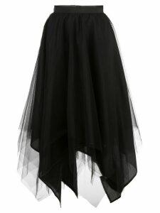 Marc Le Bihan asymmetric hem silk skirt - Black