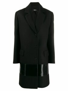 Yang Li contrast panel single-breasted coat - Black