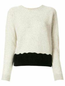 Suzusan panelled cashmere knit jumper - Grey