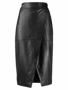 L'Autre Chose ruched pencil skirt - Black
