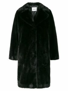 STAND STUDIO soft teddy coat - Black