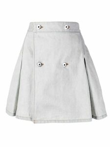 Matthew Adams Dolan A-line denim skirt - White