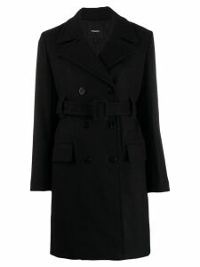 Theory belted double breasted coat - Black