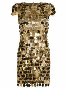 Paco Rabanne chainmail mini dress - Gold
