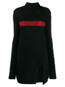 Philosophy Di Lorenzo Serafini knitted roll neck dress - Black