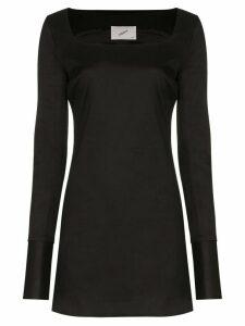 Coperni square neck mini dress - Black