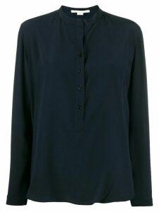 Stella McCartney half-button long-sleeve shirt - Blue