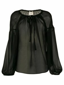 Semicouture oversized long-sleeve blouse - Black