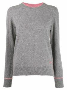 Tory Burch logo cashmere long-sleeve sweater - Grey