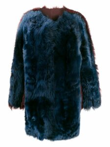 Sofie D'hoore two-tone faux-fur coat - Blue