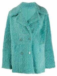 Drome double-breasted reversible coat - Blue
