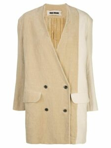 Uma Wang oversized double-breasted blazer - Neutrals