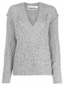 IRO cable-knit studded jumper - Grey
