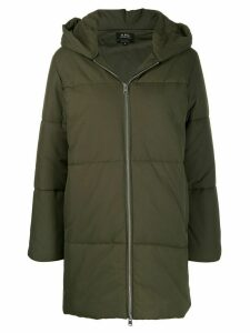 A.P.C. oversized hooded coat - Green
