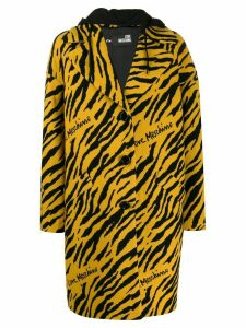 Love Moschino tiger pattern single-breasted coat - Yellow