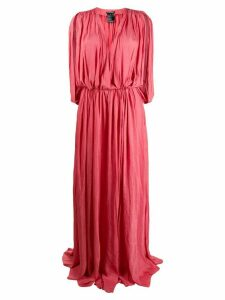 Ann Demeulemeester flared pleated maxi dress - Pink