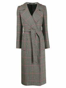 Tagliatore tie-waist mid-length coat - Black