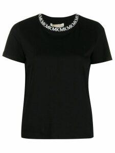 Michael Michael Kors branded neckline T-shirt - Black