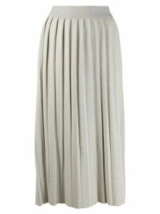 Fabiana Filippi midi knitted skirt - Neutrals