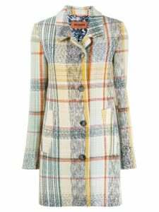 Missoni checked single breasted coat - NEUTRALS