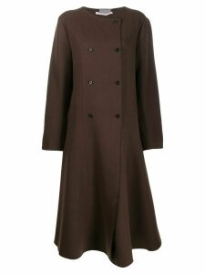 Cherevichkiotvichki flared double-breasted coat - Brown