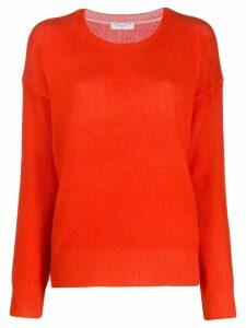 Majestic Filatures contrast knit jumper - Red