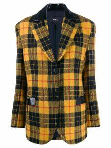 Yang Li tartan pattern blazer - Black