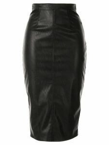 Elisabetta Franchi leather look midi skirt - Black