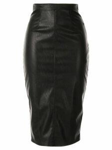 Elisabetta Franchi leather look midi skirt - Black