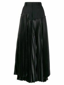 Comme Des Garçons Noir Kei Ninomiya asymmetric accordion pleat skirt -
