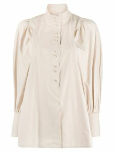 System billowing sleeve shirt - Neutrals