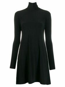 Norma Kamali turtleneck jumper dress - Black