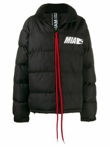 Mia-iam chest logo coat - Black
