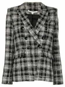 Veronica Beard Miller check print blazer - Black