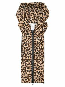 Veronica Beard hooded printed gilet - Brown