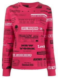 Love Moschino LMA all-over print sweatshirt - PINK