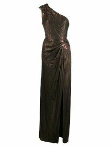 Tadashi Shoji Nigella pintuck evening gown - Brown