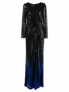 Tadashi Shoji Melati gradient glitter evening dress - Black